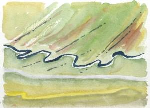 Preliminary study for 'concerto' (watercolour)