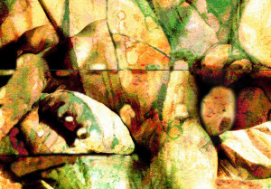 23. a study for 'rock pools (enhanced photo)