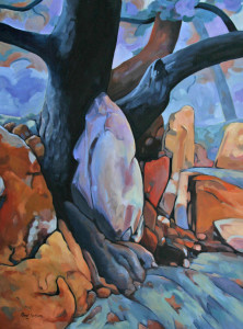 D'ou venons nous. (Tree and Rocks 7)