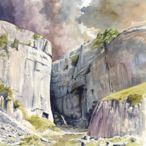 Gordale Scar (watercolour)