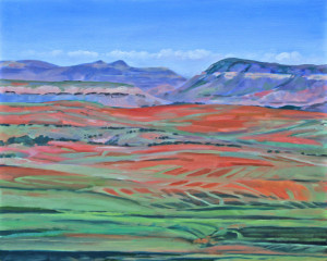 Lesotho Landscape  - Patchwork of Firey Earth